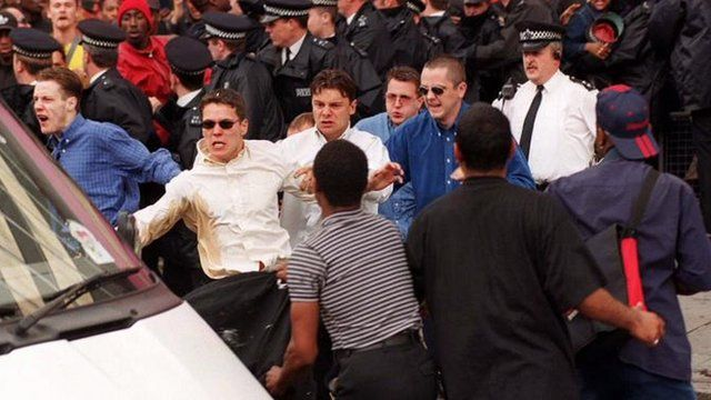 Violence outside the Stephen Lawrence Inquiry