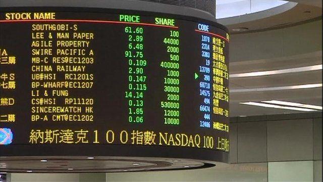 Hong Kong stock exchange markets board