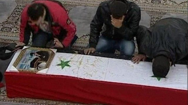 Mourners in Damascus