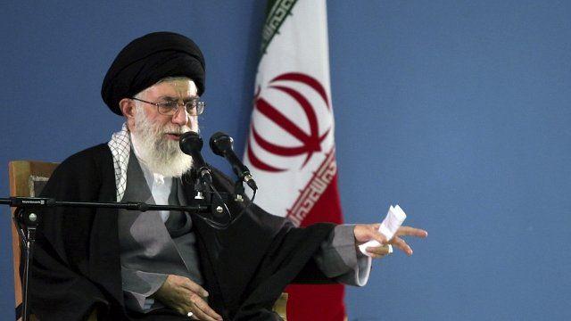 Iran's supreme leader Ayatollah Ali Khamenei speaks to supporters in Tehran January 9, 2012