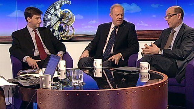 Douglas Alexander, Damian Green and Nick Robinson