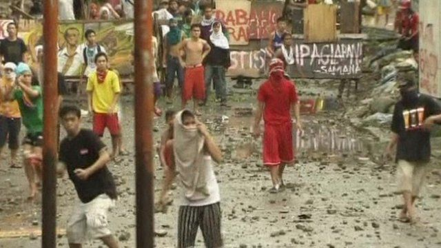 Clashes in Manila