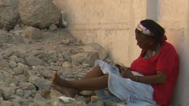 Woman in Haiti