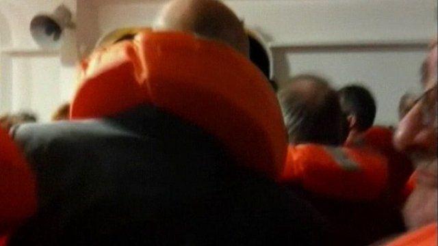 Passengers in lifejackets