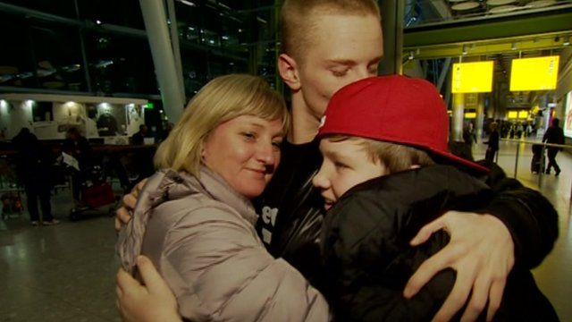 Family reunited