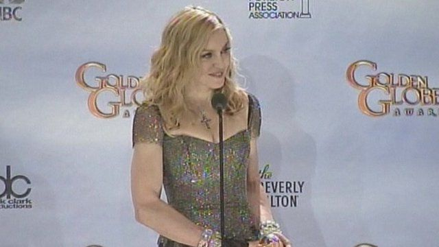 Madonna at the Golden Globes