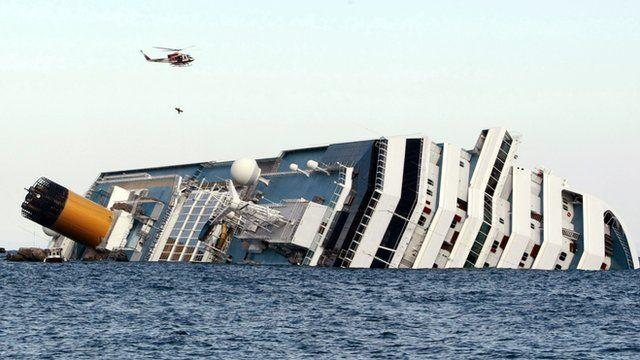 Capsized cruise liner, the Costa Concordia