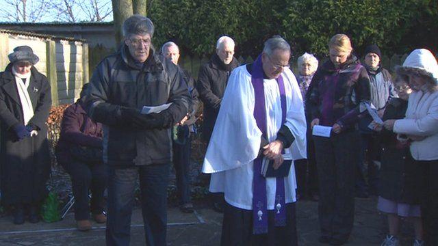Hartley memorial service