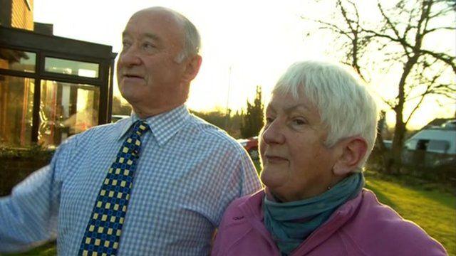 Cruise survivors Derek and Viv Ebbage.