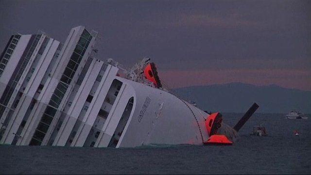 Stranded cruise ship