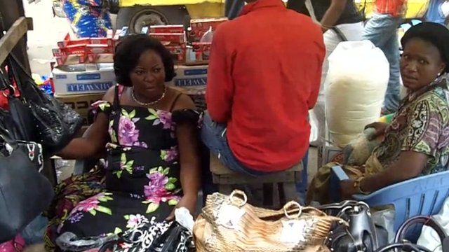 Stall sellers in Kinshasa central market