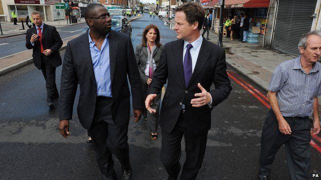 David Lammy with Nick Clegg