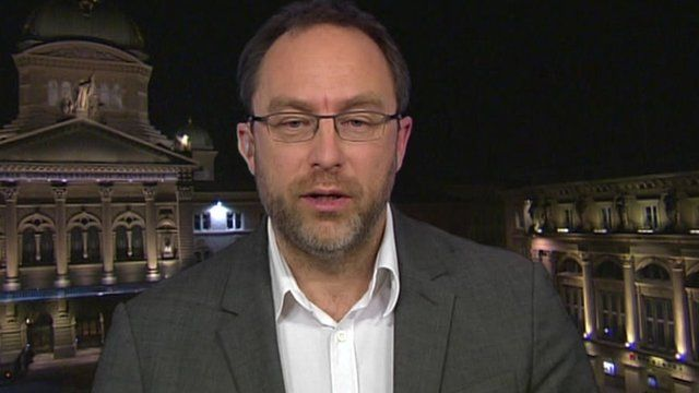 Wikipedia's founder, Jimmy Wales