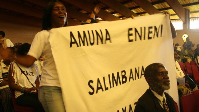 Protesters in Malawi