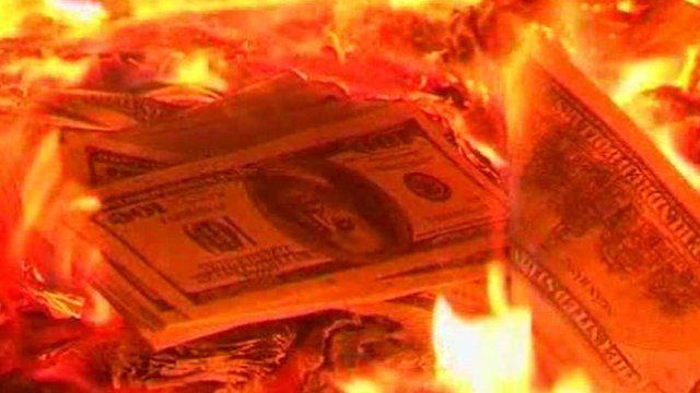 Burning joss money in Vietnam