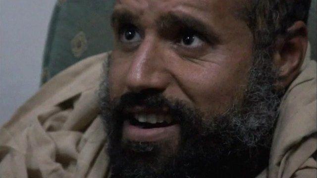 Saif Gaddafi after his capture.
