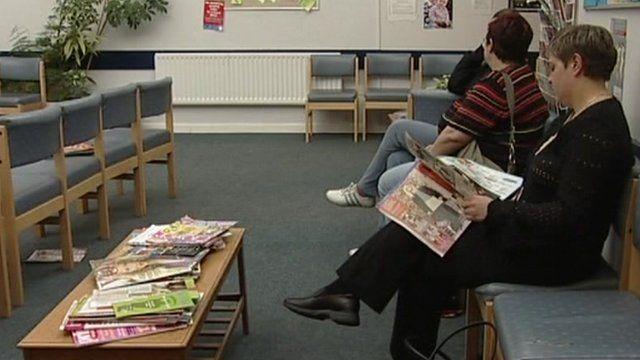 An NHS waiting room