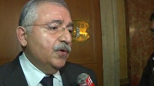 Turkey's ambassador to France Tahsin Burcuoglu