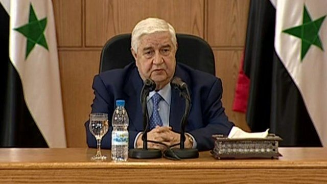 Syria foreign minister Walid al-Muallem