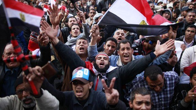 People in Tahrir Square