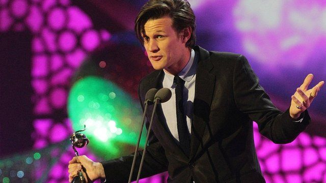 Matt Smith collects National Television Award for his role in Doctor Who