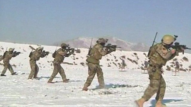Afghan troops being trained for night raids