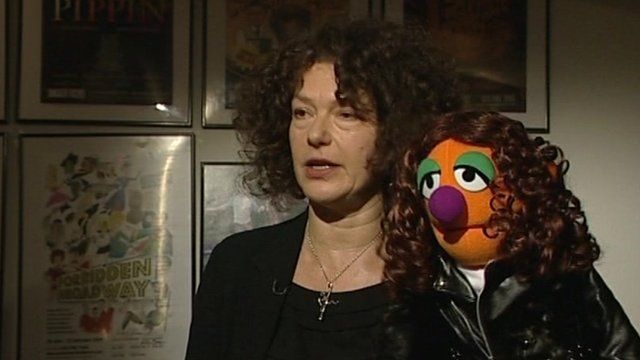 Louise Gold and Muppet