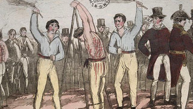 Australian convict flogged illustration
