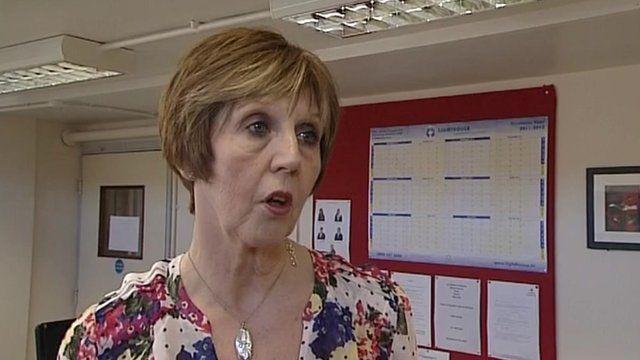 The principal of St Aldhelm's Academy, Cheryl Heron