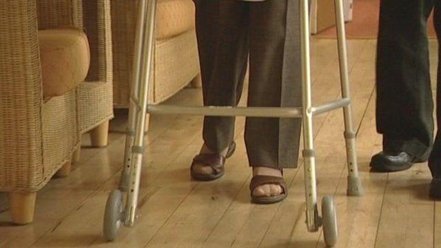 Person using walker