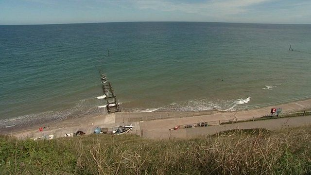 View from cliffs at Overstrand, Norfolk