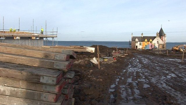 Building work in John O'Groats