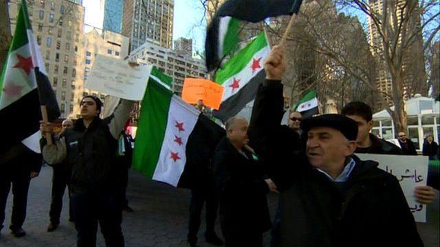 Syrians on the streets of New York