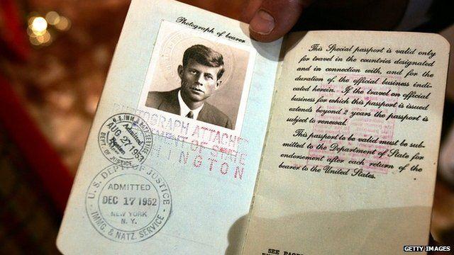 John F Kennedy passport