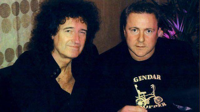 John Bue with Brian May