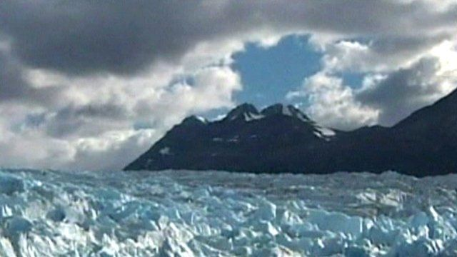 Part of the Jorge Montt glacier