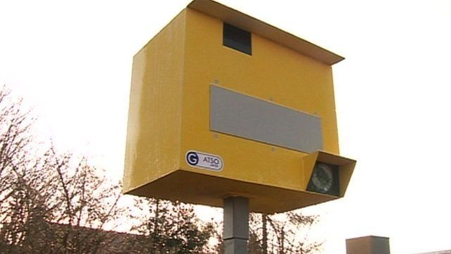 Fake speed camera in Ompton
