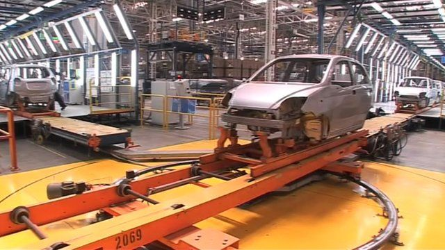An Indian car factory