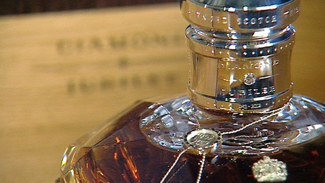 Bottle of whisky blended to mark the diamond jubilee of the Queen's accession to the throne