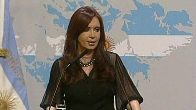 Argentina's president, Cristina Kirchner Fernandez