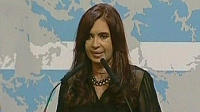 The Argentine President, Cristina Fernandez