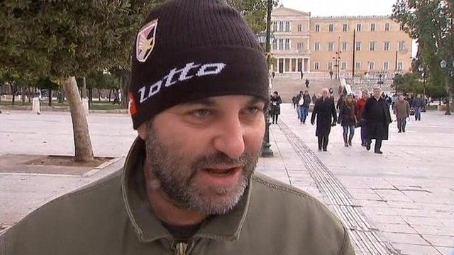 Man in Athens gives his opinion about Greece's financial situation.