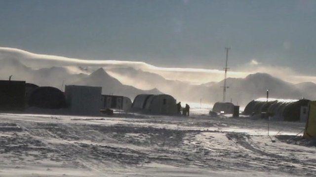 Antarctic camp