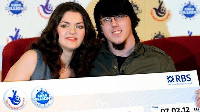 EuroMillions lottery winners Cassey Carrington and Matt Topham
