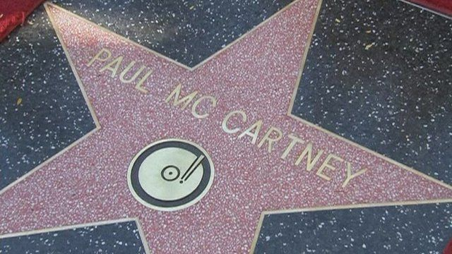 Paul McCartney's star on the Hollywood Walk of Fame