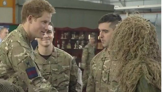 Prince Harry with RAF Regiment members