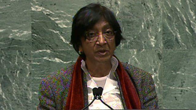 UN human rights chief, Navi Pillay