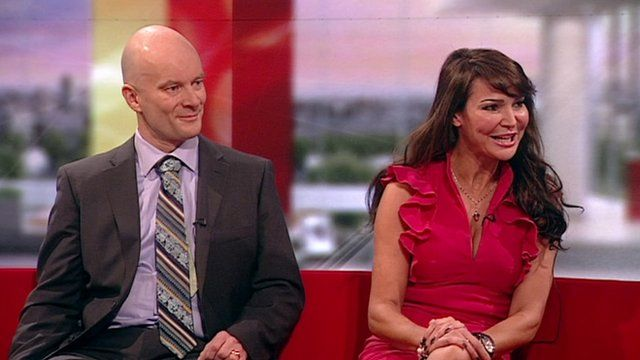 Dr Chris Brauer and Lizzie Cundy on the BBC Breakfast sofa.