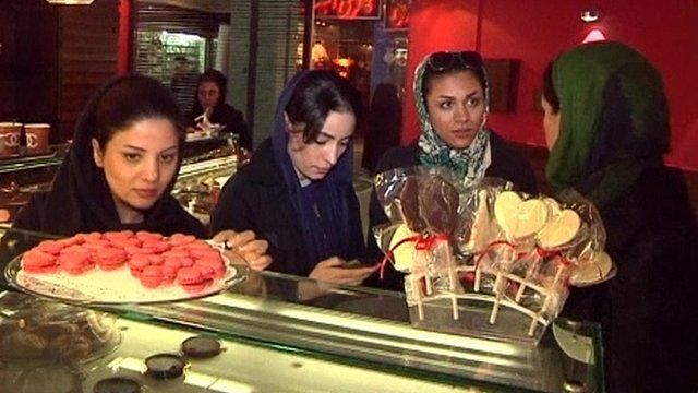 Iranian ladies looking for Valentine's cakes