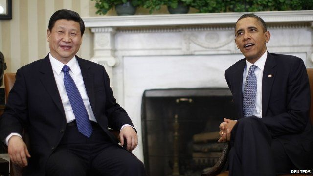 China's Xi Jinping with US President Barack Obama